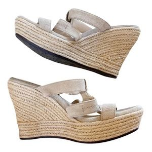 UGG Tawnie Suede Wedge Sandals Espadrille Wedges